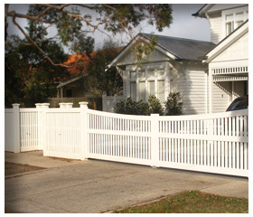 Old Malvern Picket Gallery Fence 2