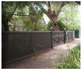 Old Malvern Picket Gallery Fence 4